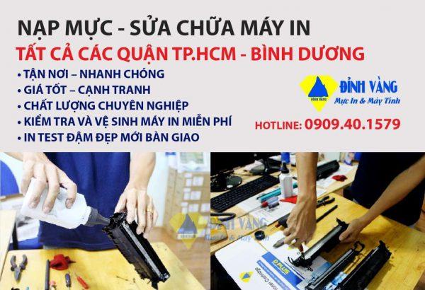 Nạp mực máy in tất cả các quận TP Hồ Chí Minh – Bình Dương